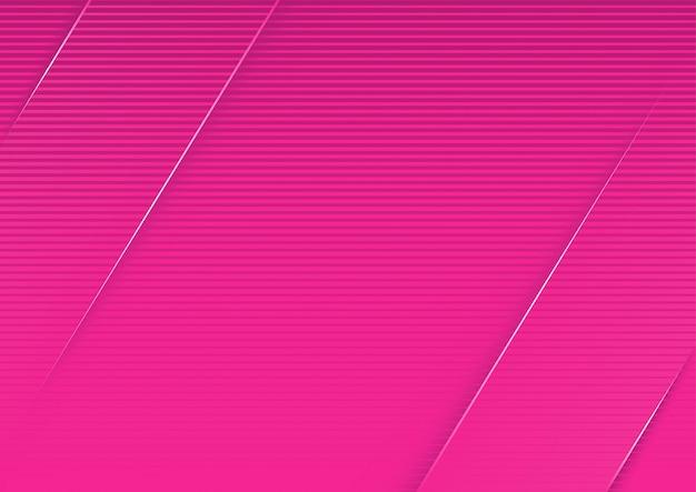 Abstrakter rosa gestreifter hintergrund mit diagonalen streifen 3d Premium Vektoren