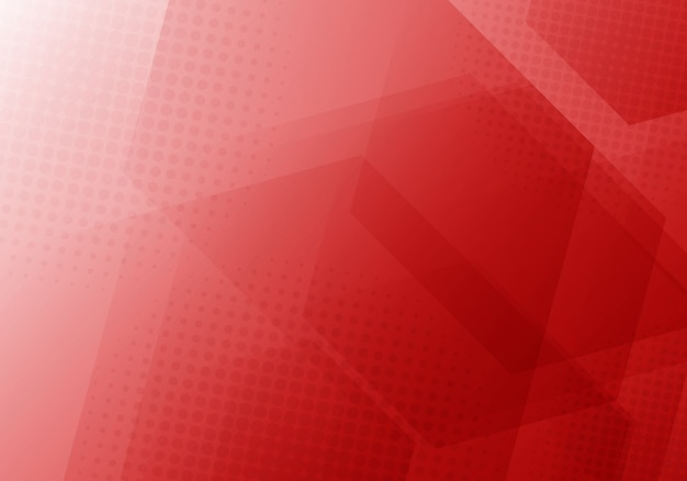 Abstrakter roter geometrischer hexagonhintergrund Premium Vektoren