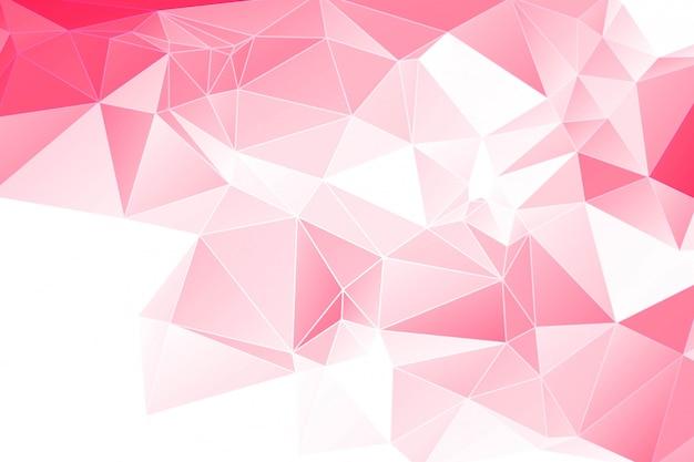 Abstrakter roter geometrischer polygonaler hintergrund Kostenlosen Vektoren