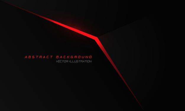 Abstrakter roter lichtpfeil auf schwarzem metallic mit modernem luxus-futuristischem technologiehintergrund des leerraumdesigns. Premium Vektoren