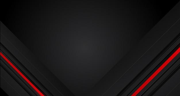 Abstrakter roter pfeil auf modernem futuristischem hintergrund des dunkelgrauen kreismaschen-designs Premium Vektoren