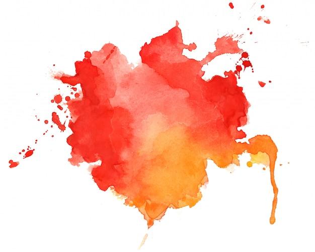 Abstrakter roter und orange aquarellbeschaffenheitshintergrund Kostenlosen Vektoren
