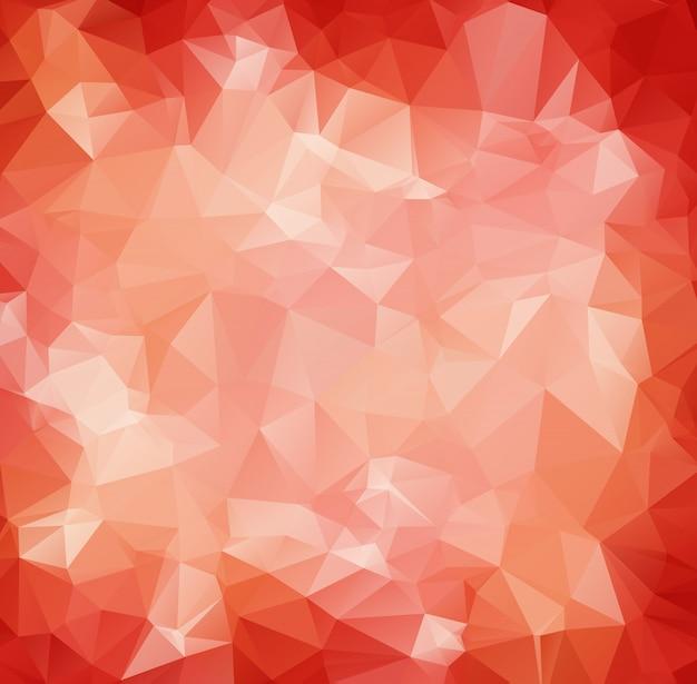 Abstrakter roter weißer polygonaler mosaik-hintergrund Premium Vektoren