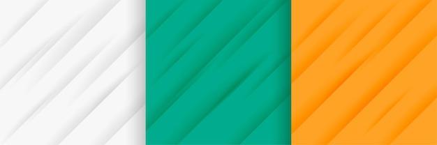 Abstrakter satz diagonaler linienmusterhintergrund Kostenlosen Vektoren