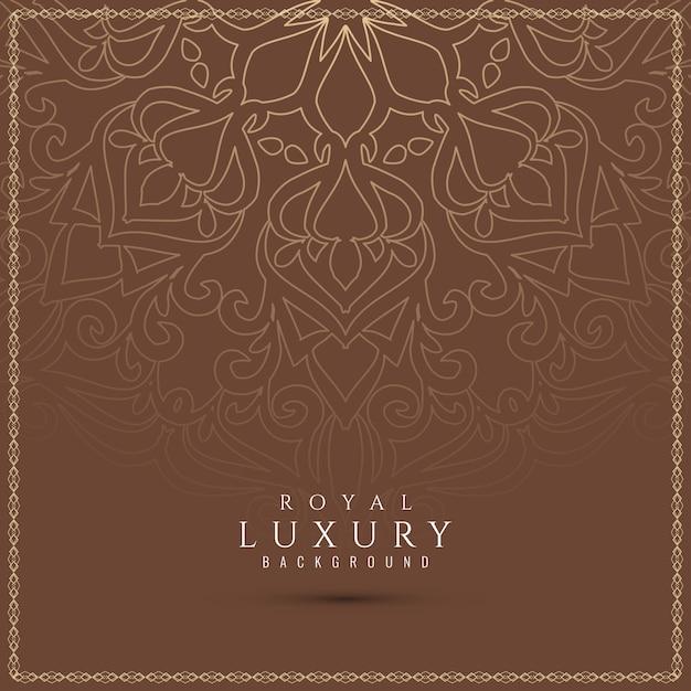 Abstrakter schöner dekorativer luxushintergrund Kostenlosen Vektoren