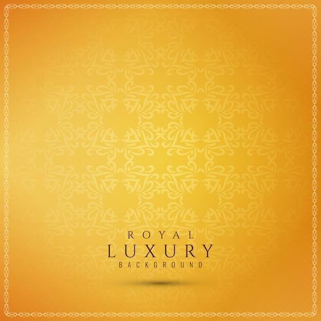 Abstrakter schöner gelber luxushintergrund Kostenlosen Vektoren
