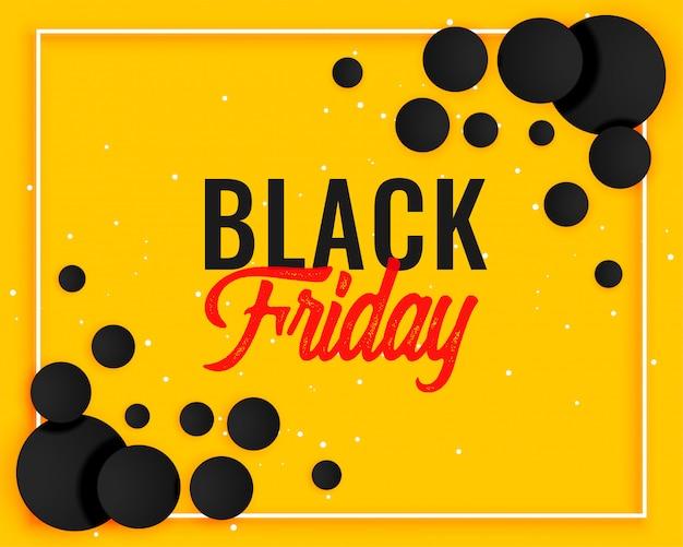 Abstrakter schwarzer freitag-gelber fahnendesign Kostenlosen Vektoren