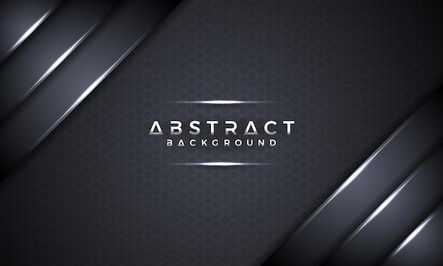 Abstrakter schwarzer metallischer hintergrund des vektor 3d. Premium Vektoren