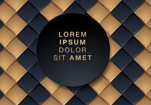 Abstrakter schwarzer und goldhintergrund Premium Vektoren