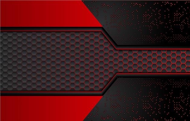 Abstrakter schwarzer und roter hintergrund Premium Vektoren