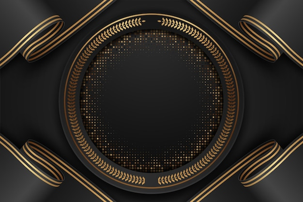 Abstrakter schwarzweiss-luxushintergrund Premium Vektoren