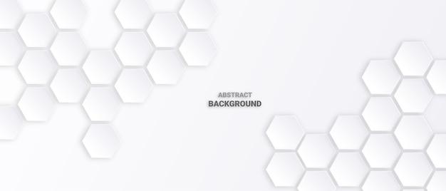 Abstrakter sechseck weißer hintergrund. Premium Vektoren