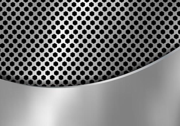 Abstrakter silberner metallhintergrund Premium Vektoren