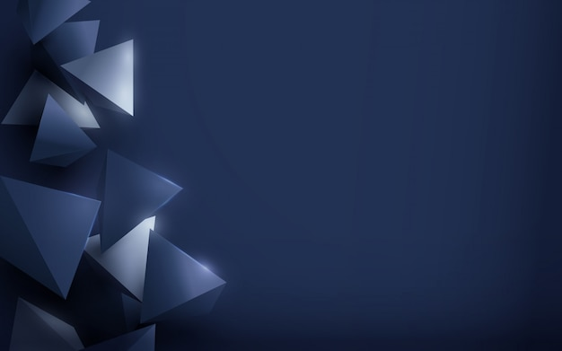 Abstrakter silberner und blauer polygonaler luxushintergrund. Premium Vektoren