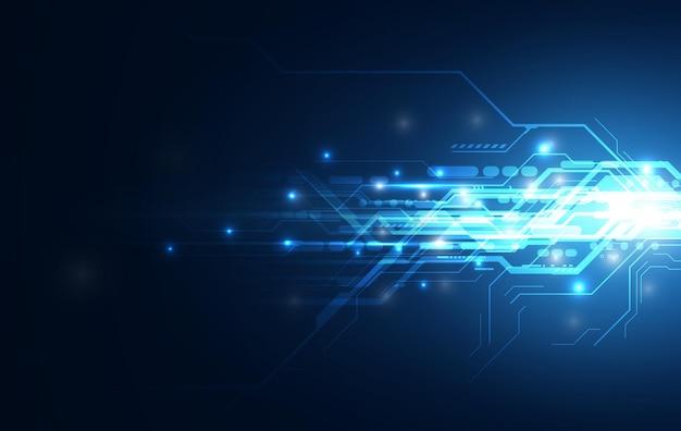 Abstrakter speed line network computing sci fi innovativer konzeptdesign-hintergrund Premium Vektoren