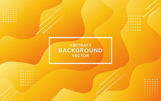Abstrakter steigungsfarbkurvenhintergrund des orange gelbs. Premium Vektoren