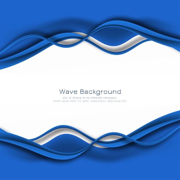 Abstrakter stilvoller blauer wellenhintergrund Kostenlosen Vektoren