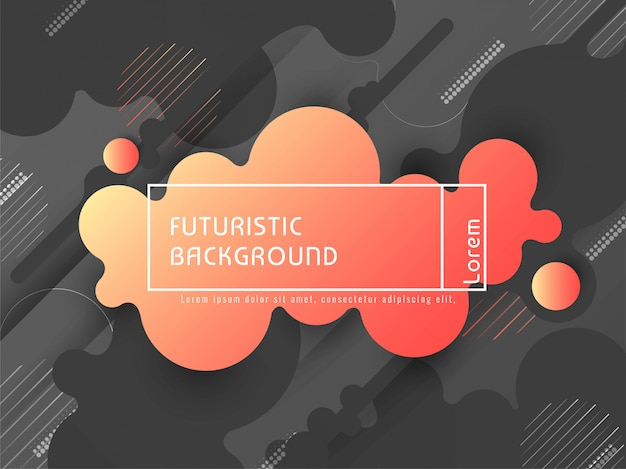 Abstrakter stilvoller bunter futuristischer vektorhintergrund Kostenlosen Vektoren