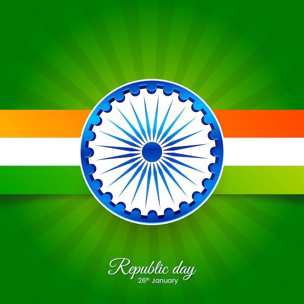 Abstrakter tag der indischen republik Premium Vektoren
