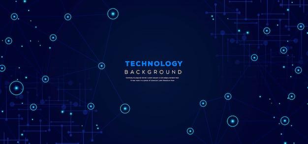 Abstrakter technologie-hintergrund Premium Vektoren