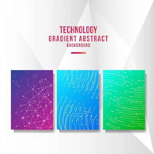 Abstrakter technologieabdeckunghintergrund Premium Vektoren