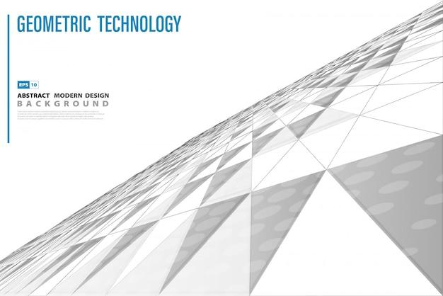 Abstrakter technologiedreieck-perspektivenhintergrund Premium Vektoren