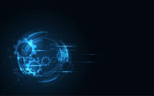 Abstrakter technologiehintergrund hightech- kommunikationskonzept-innovationshintergrund Premium Vektoren