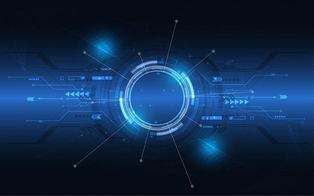 Abstrakter technologiehintergrund hightech- kommunikationskonzeptinnovation Premium Vektoren
