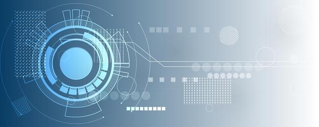 Abstrakter technologiehintergrund, illustration, innovation des hi-tech-kommunikationskonzepts Premium Vektoren