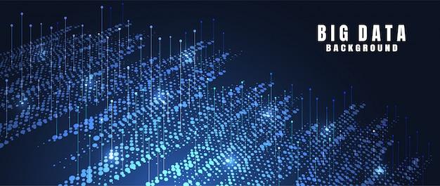 Abstrakter technologiehintergrund mit großen daten. internetverbindung Premium Vektoren