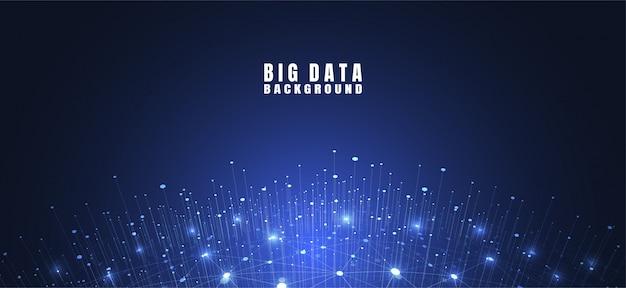Abstrakter technologiehintergrund mit großen daten Premium Vektoren