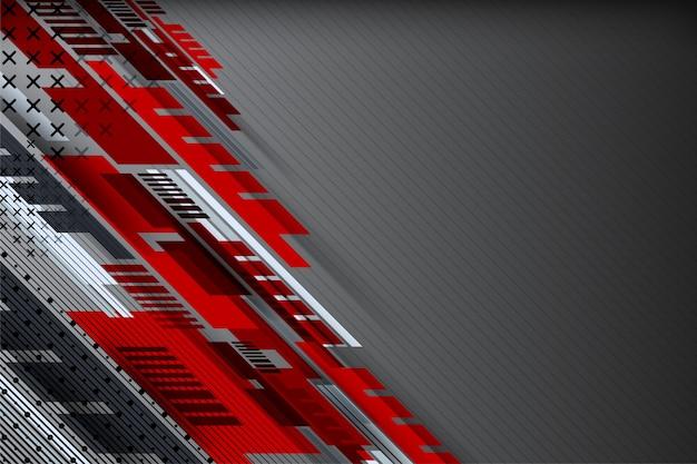 Abstrakter technologiehintergrund mit punktiertem geometrischem Premium Vektoren