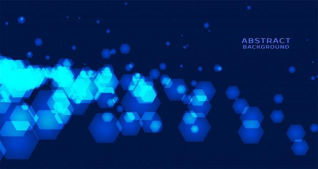 Abstrakter technologiehintergrund mit sechseckigen formen Kostenlosen Vektoren