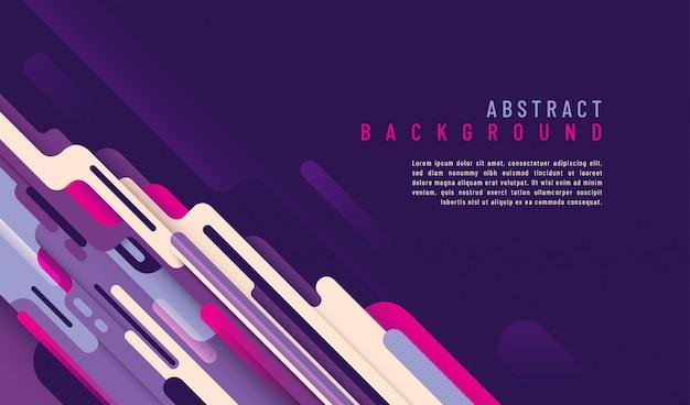 Abstrakter technologiehintergrund mit textschablone und design mit gerundeten formen. Premium Vektoren
