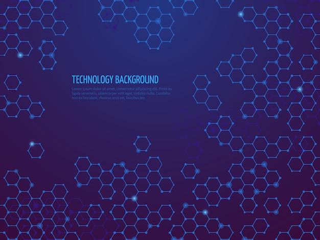 Abstrakter technologiehintergrund Premium Vektoren