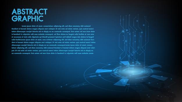 Abstrakter technologischer hintergrund Premium Vektoren