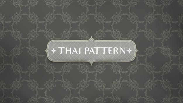 Abstrakter traditioneller thailändischer musterhintergrund. Premium Vektoren