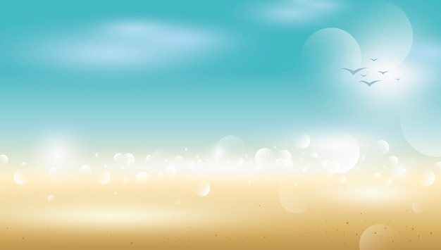 Abstrakter tropischer sommerhintergrund des unschärfestrandes Premium Vektoren
