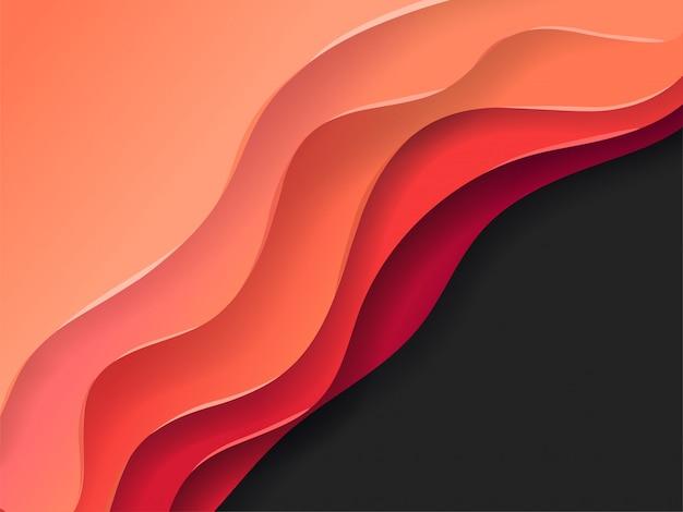 Abstrakter vektorhintergrund der farbenschichten Premium Vektoren