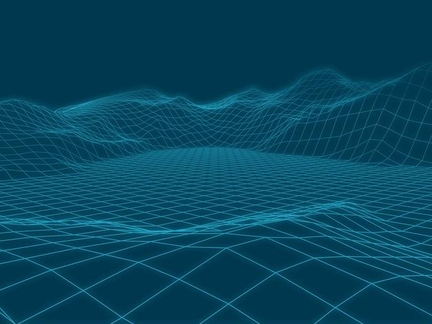 Abstrakter vektorlandschaftshintergrund. Premium Vektoren