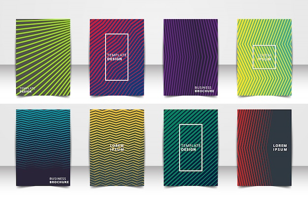 Abstrakter vektorplan-hintergrundsatz. für kunstvorlagendesign liste, titelseite, modellbroschüren-themaart, fahne, idee, abdeckung, broschüre, druck, flieger, buch, freier raum, karte, anzeige, zeichen, blatt, a4. Premium Vektoren