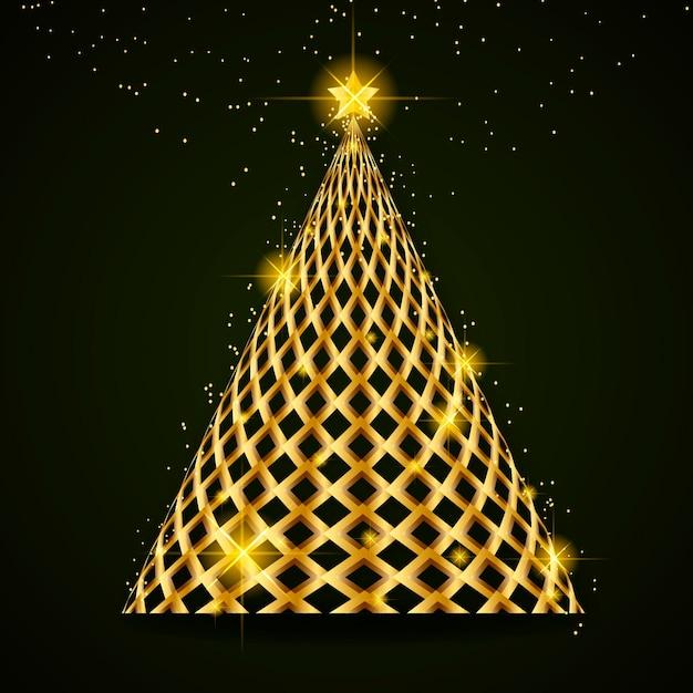 Abstrakter weihnachtsbaum Premium Vektoren