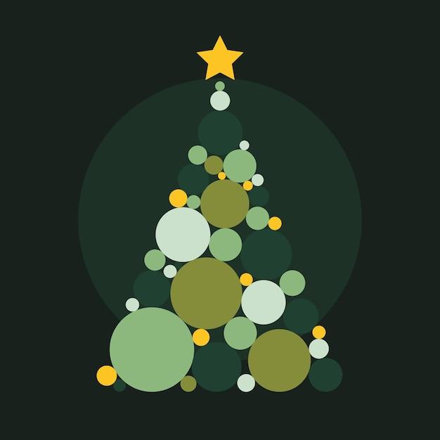 Abstrakter weihnachtsbaum Kostenlosen Vektoren