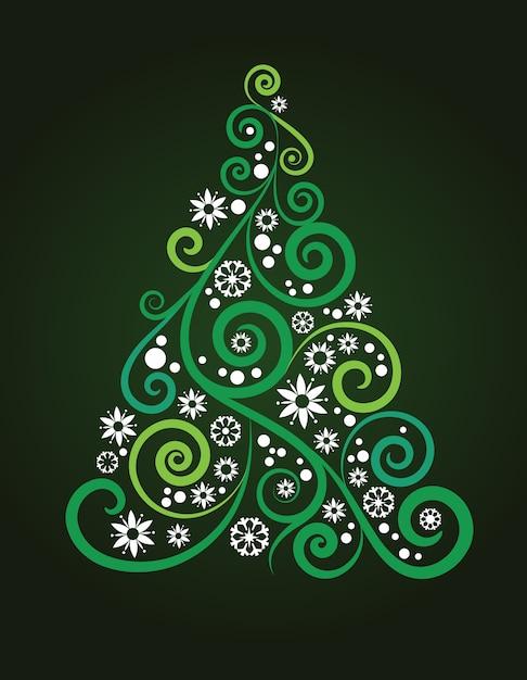 Abstrakter weihnachtsbaumhintergrund für plakat, fahne oder grußkarte Premium Vektoren