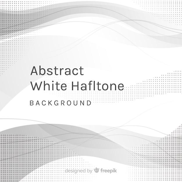 Abstrakter weißer halbtonhintergrund Kostenlosen Vektoren