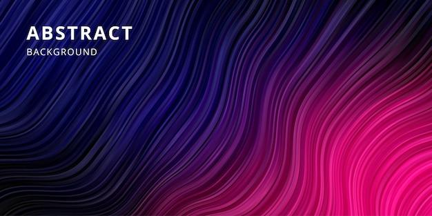 Abstrakter wellenhintergrund. streifenlinienmustertapete in der farbe blau rosa Premium Vektoren