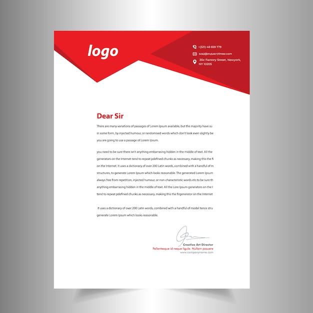 Abstraktes Briefkopf Schablonen Design Download Der Premium Vektor