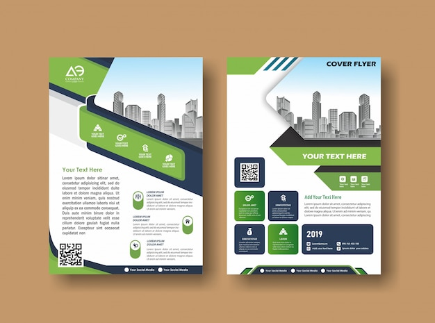 Abstraktes cover und layout für präsentation und marketing Premium Vektoren