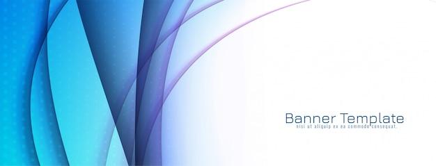 Abstraktes dekoratives blaues wellenfahnenentwurf Kostenlosen Vektoren