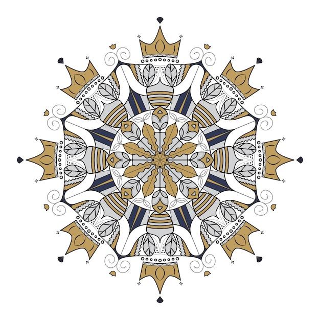 Abstraktes dekoratives Element der modernen Mandala, Motivdesign ...
